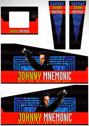 Johnny Mnemonic – Pinball Cabinet Decals Set