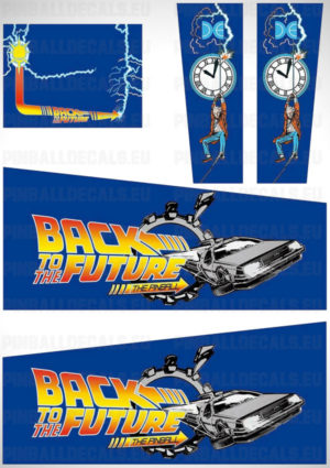 Back to the Future – Pinball Cabinet Decals Set
