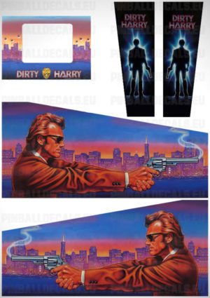 Dirty Harry – Pinball Cabinet Decals Set