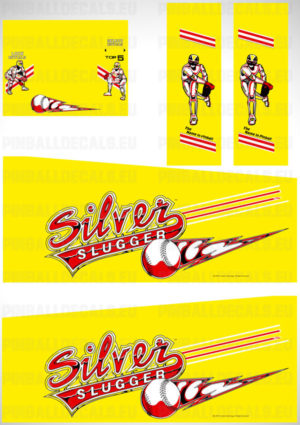 Silver Slugger – Pinball Cabinet Decals Set