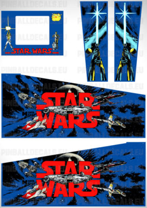 Star Wars Data East – Pinball Cabinet Decals Set