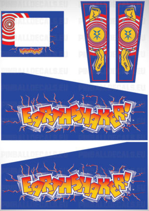 Earthshaker – Pinball Cabinet Decals Set