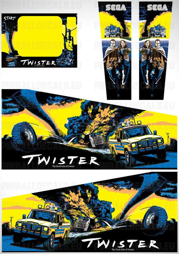 Twister Flipper Side Art Pinball Cabinet Decals Artwork
