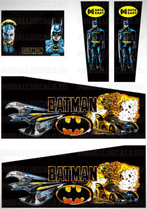 Batman – Pinball Cabinet Decals Set