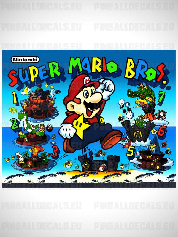 Super Mario Bros Pinball Flipper Translite Backglass Backbox Art