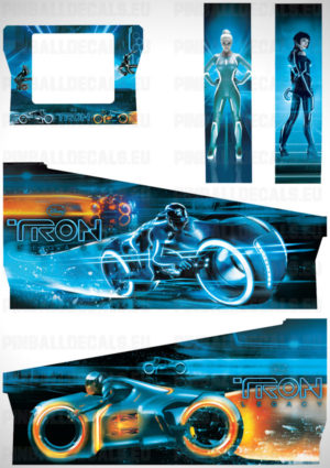 Tron Legacy – Pinball Cabinet Decals Set